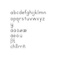 Small Movable Alphabet: International Print - Black