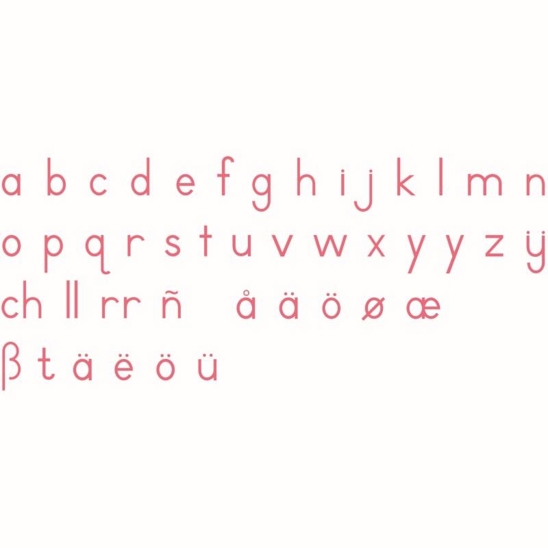Medium Movable Alphabet: International Print - Red