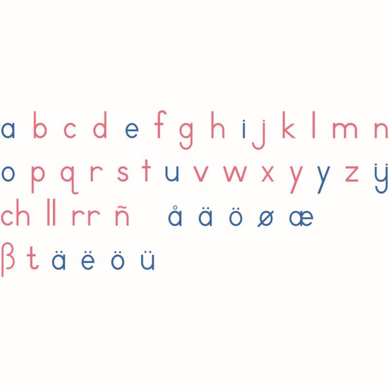 Wooden Movable Alphabet: International Print