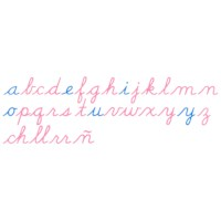 Wooden Movable Alphabet: US Cursive
