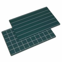 Greenboards With Lines And Squares: Set Of 2
