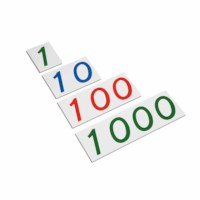 Large Number Cards 1–1000: Plastic