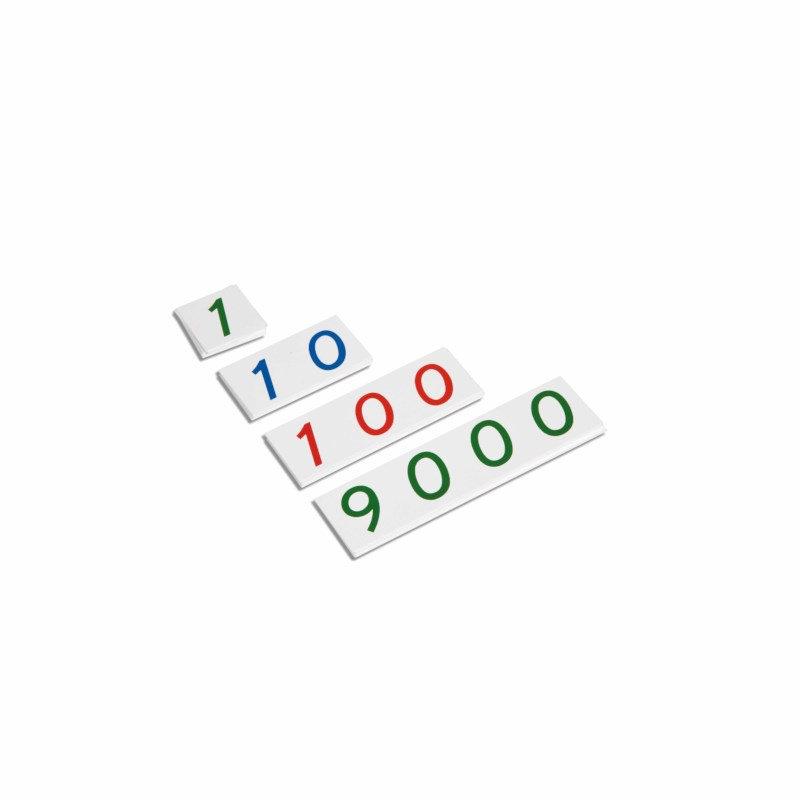 Small Number Cards 1–9000: Plastic