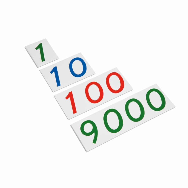 Large Number Cards 1–9000: Plastic