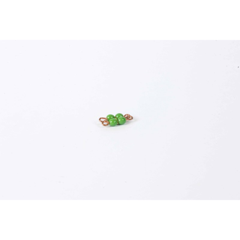Individual Glass Bead Square Of 2: Green