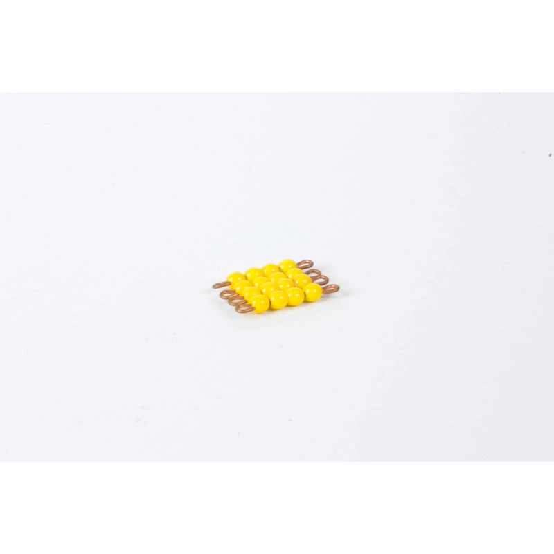 Individual Glass Bead Square Of 4: Yellow