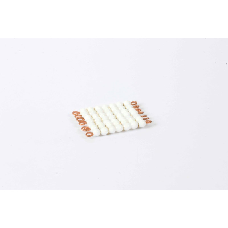 Individual Glass Bead Square Of 7: White