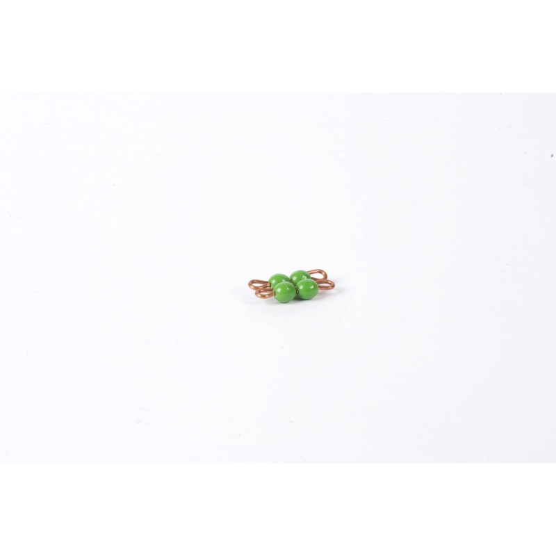 Individual Nylon Bead Square Of 2: Green