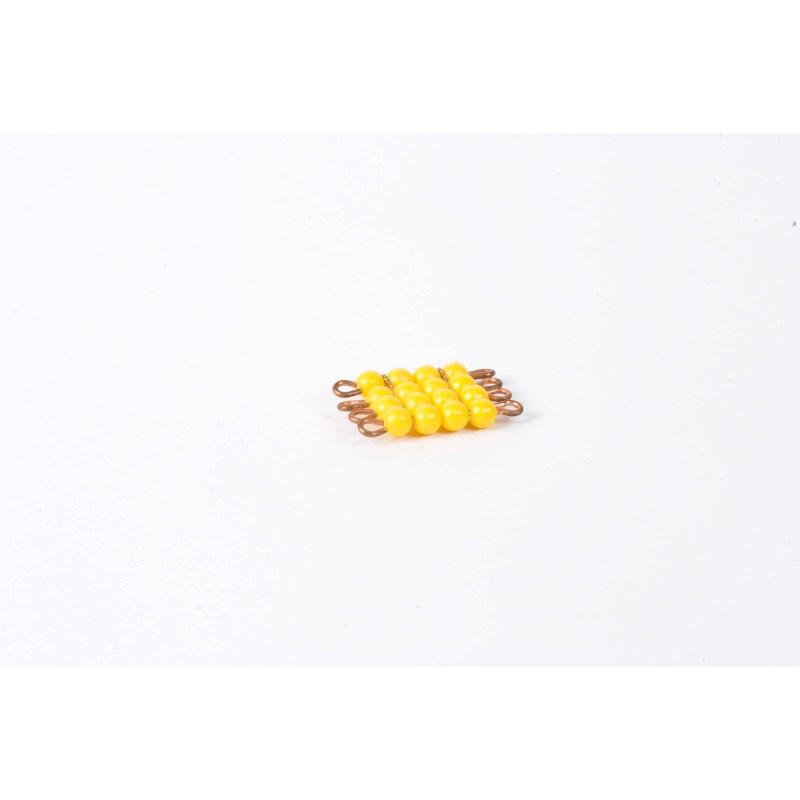 Individual Nylon Bead Square Of 4: Yellow