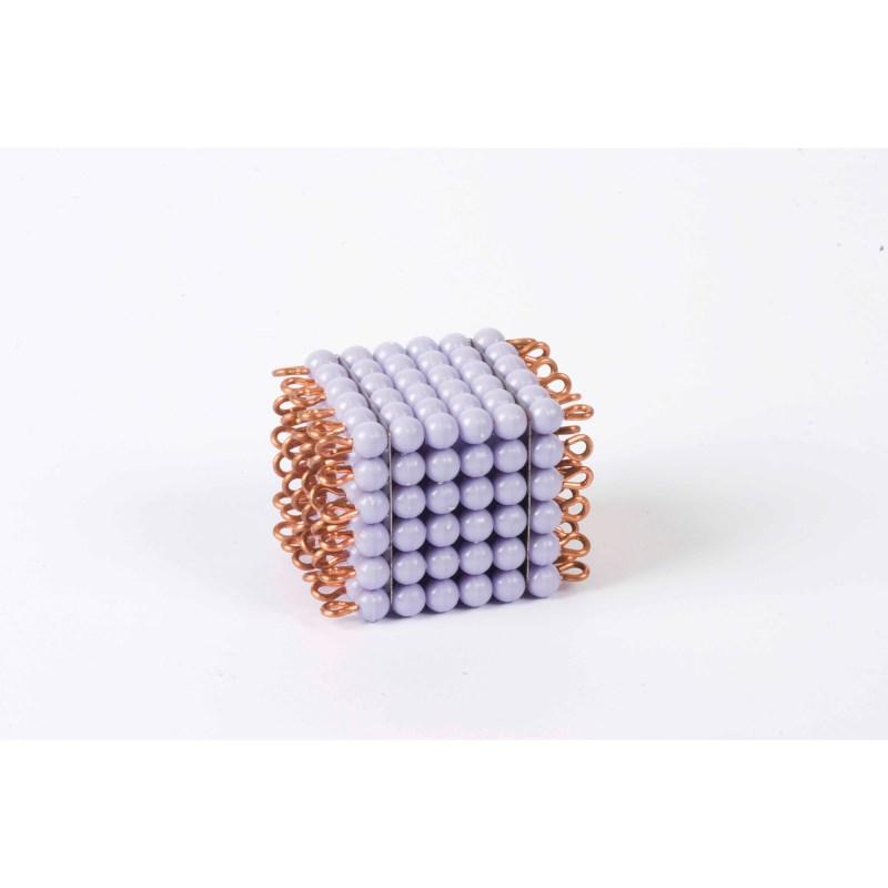Individual Nylon Bead Cube Of 6: Purple