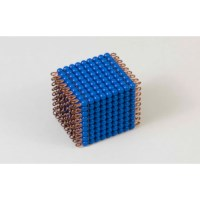 Individual Nylon Bead Cube Of 9: Dark Blue