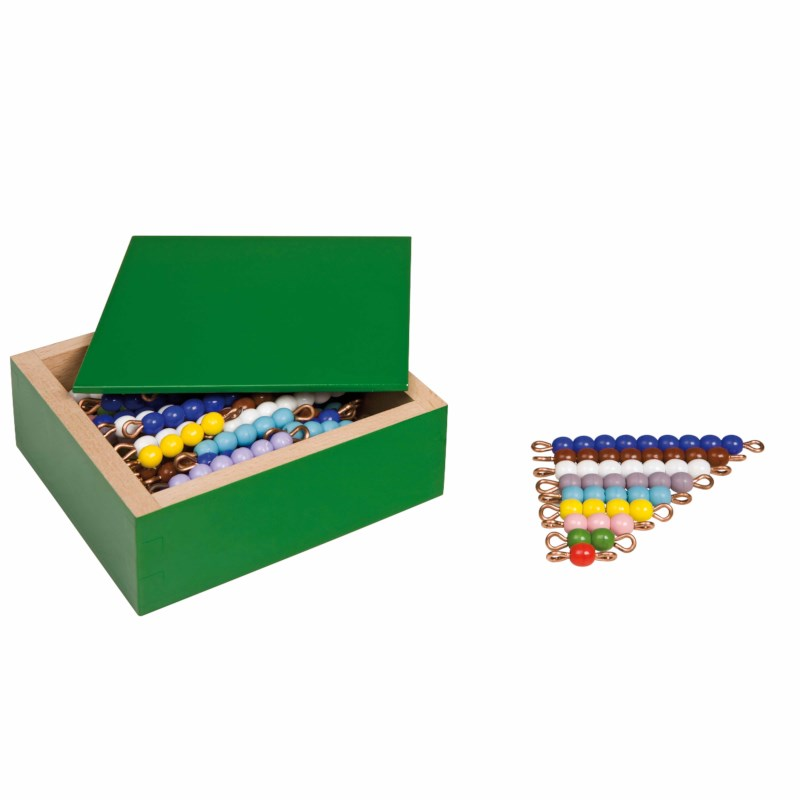 Colored Bead Stairs - 10 Sets: Individual Beads (Glass)