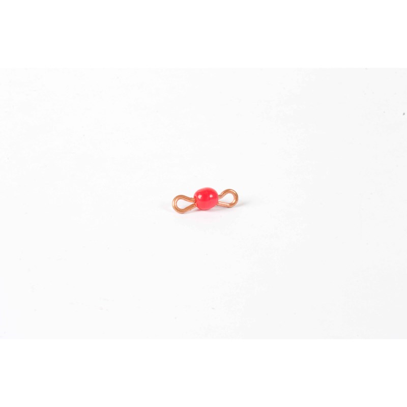 Individual Glass Bead Bar Of 1 : Red