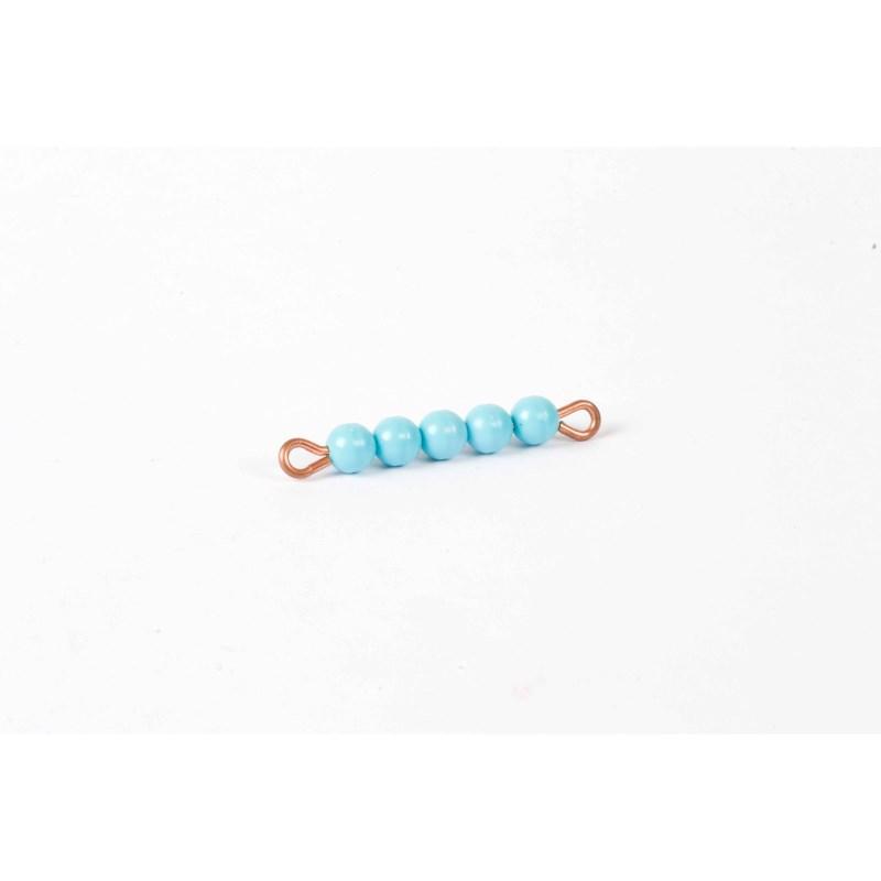 Individual Nylon Bead Bar Of 5 : Light Blue