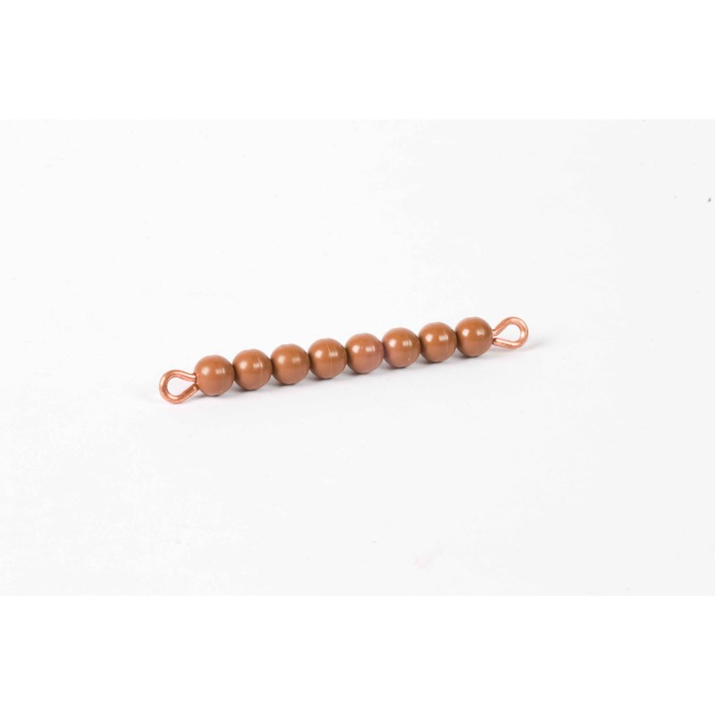 Individual Nylon Bead Bar Of 8 : Brown