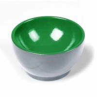 Wooden Cup: Gray / Green