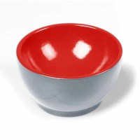 Wooden Cup: Gray / Red