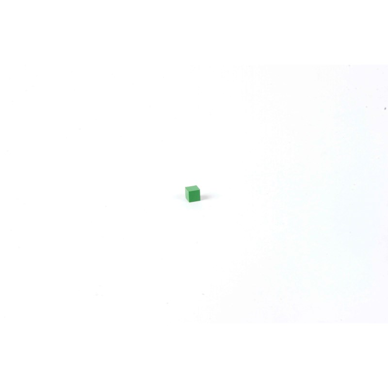 Hierarchy Of Number: Green Cube 0.5 x 0.5 x 0.5