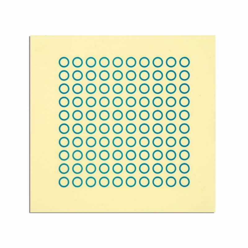 Sheet With 100 Circles