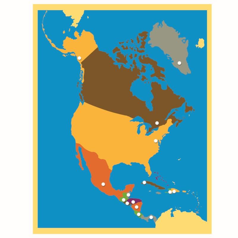 Puzzle Map North America Nienhuis Montessori
