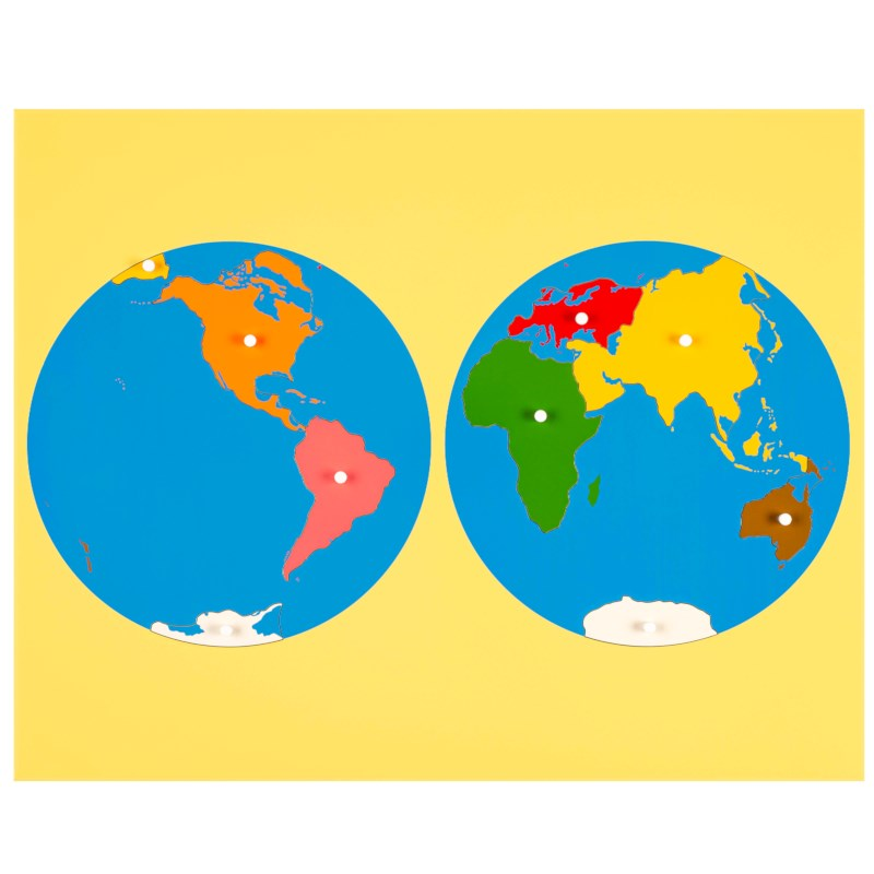 Puzzle Map: World Parts | Nienhuis Montessori