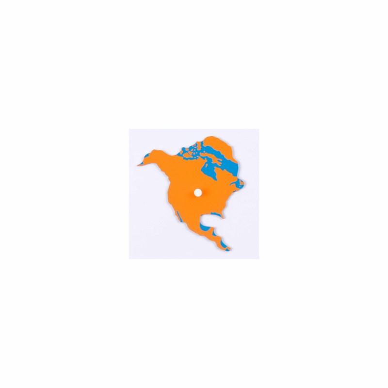Puzzle Piece Of World Parts: North America