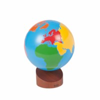 Globe Of The Continents: Colored