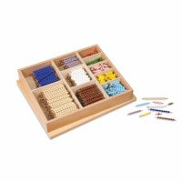 Multiplication Bead Bar Layout Box: Individual Beads (Glass)