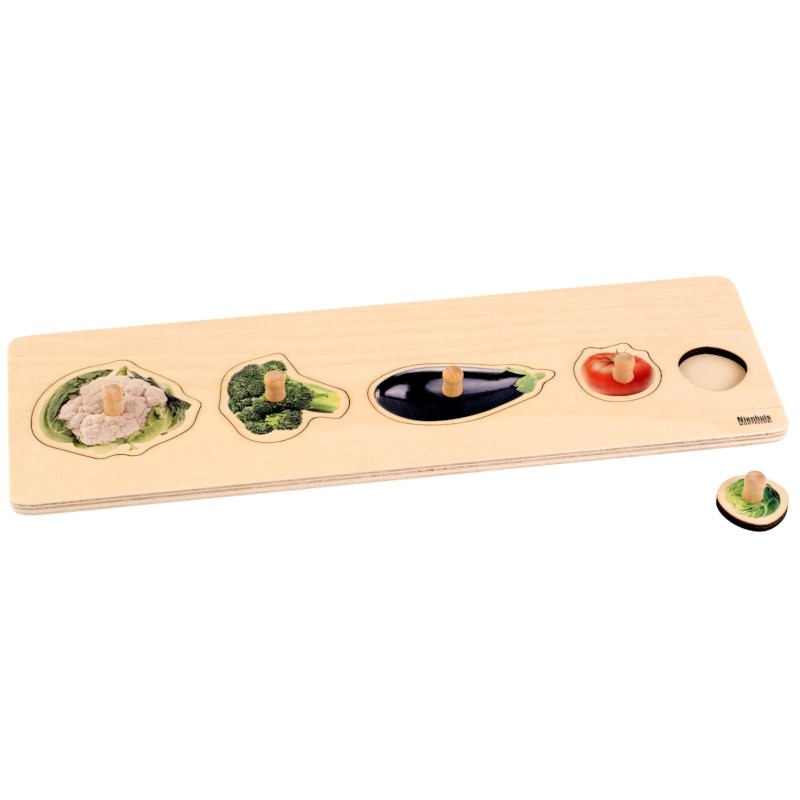 Toddler Puzzle: 5 Vegetables