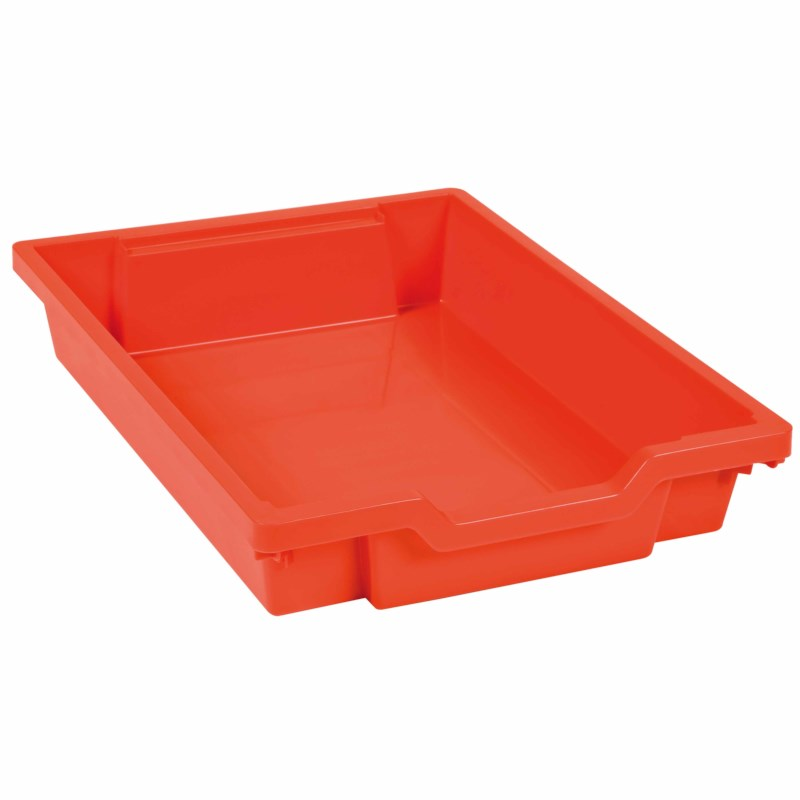 Tray including gliders: red (7 cm)