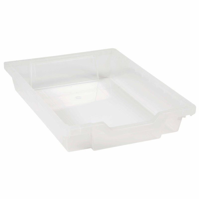 Tray including gliders: transparent (7 cm)