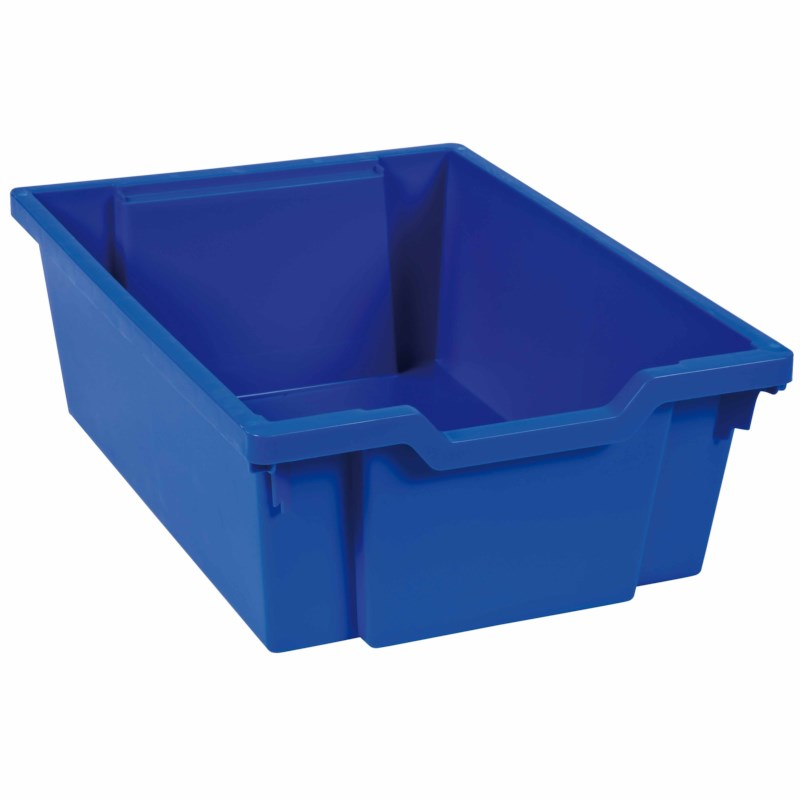 Tray including gliders: blue (15 cm)