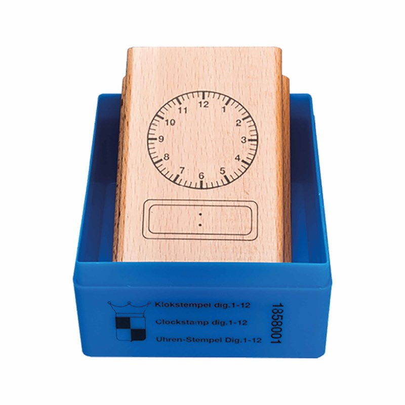 Clock stamp analogue - digital 12 hours