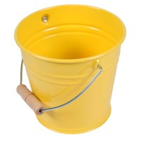 Small Metal Bucket (Yellow)