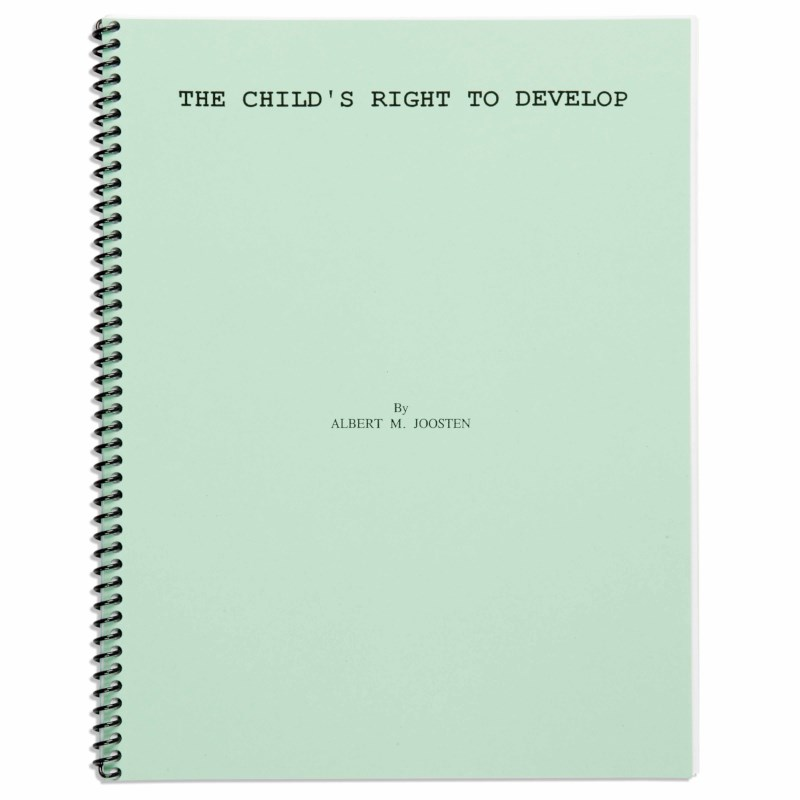 The Child's Right To Develop
