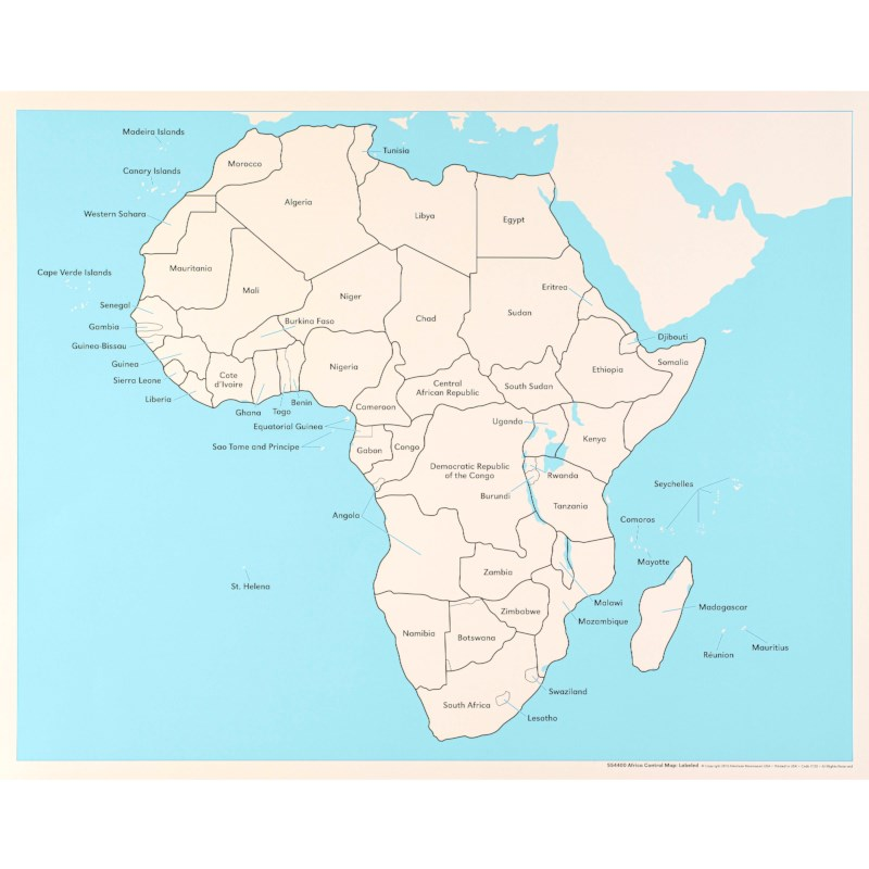 Africa Map Labled.Africa Control Map Labeled Nienhuis Montessori
