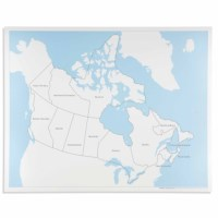 Canada Control Map: Labeled