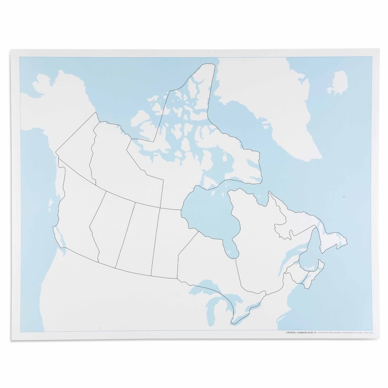 Canada Control Map: Unlabeled