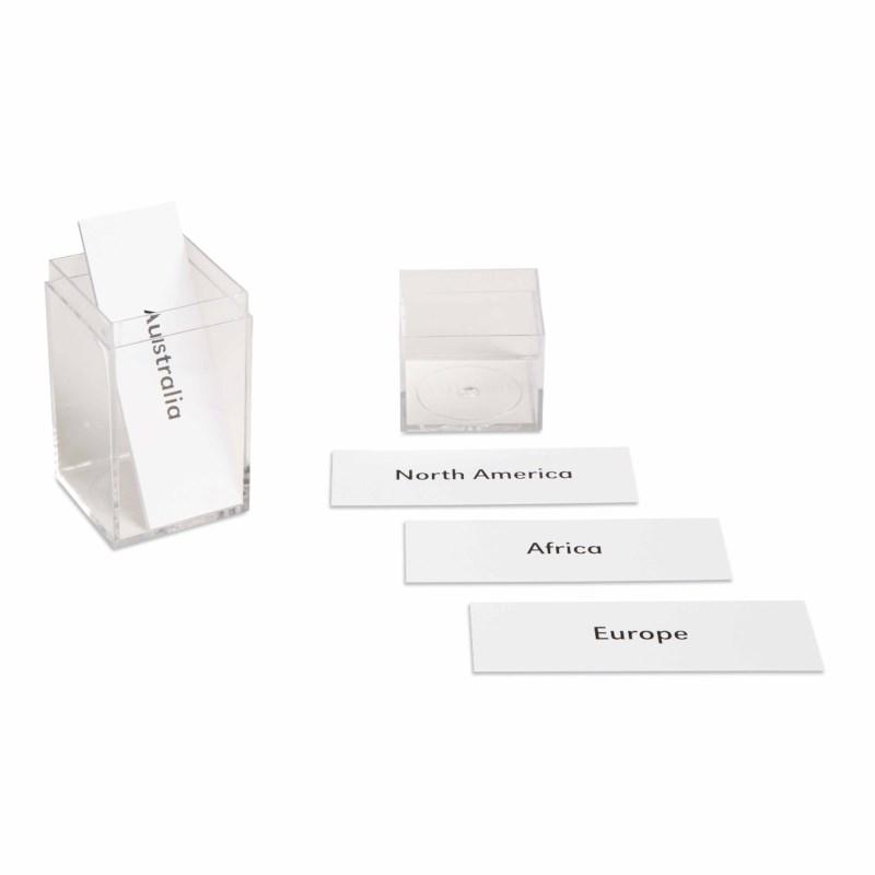Continent: Labels