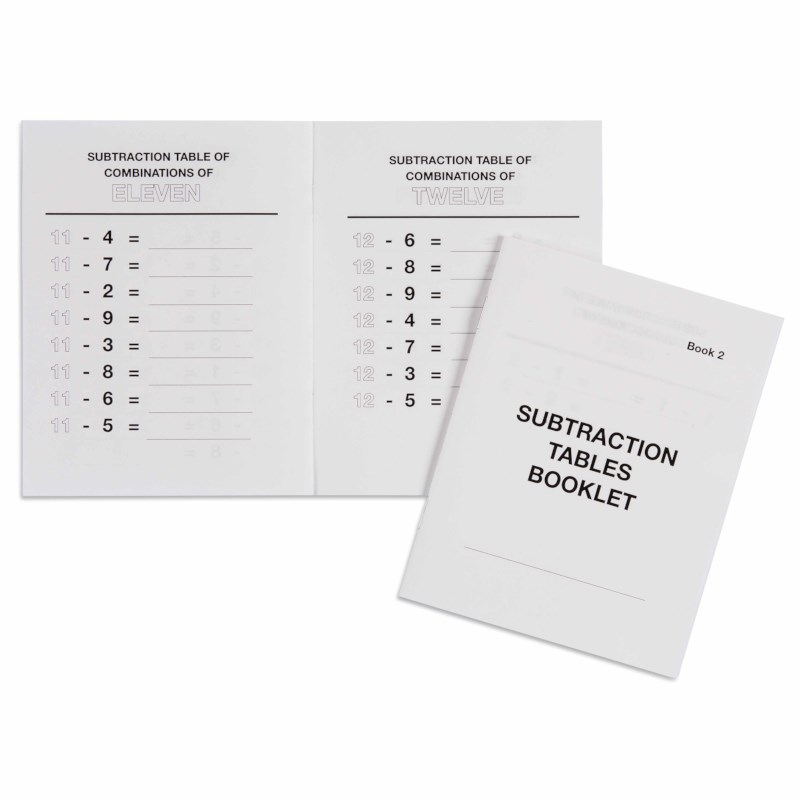 Subtraction Tables Booklet: 2