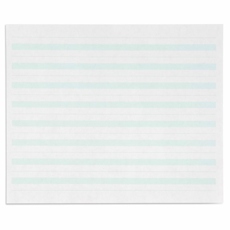 Writing Paper: Green Lines – 7 x 8.5 in – (500)