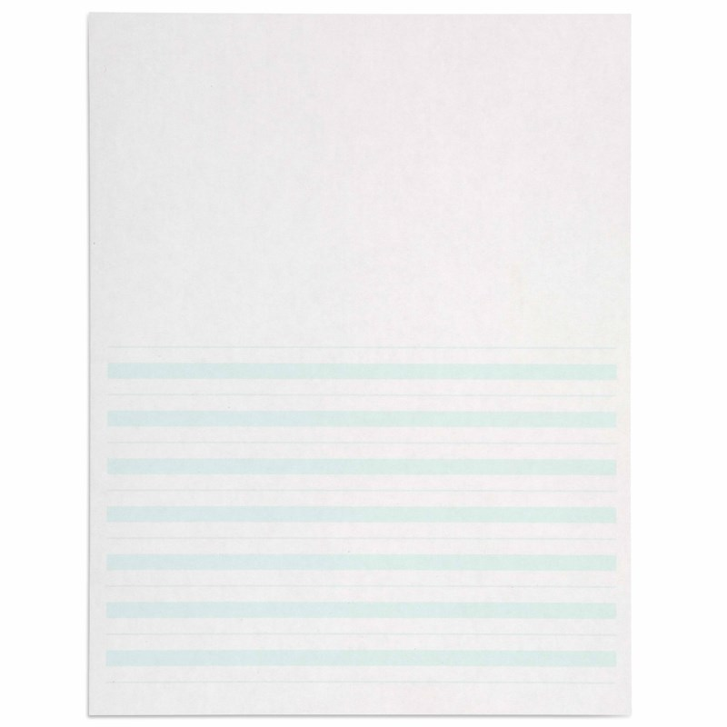 Writing Paper: Green Lines – 8.5 x 11 in – (500)
