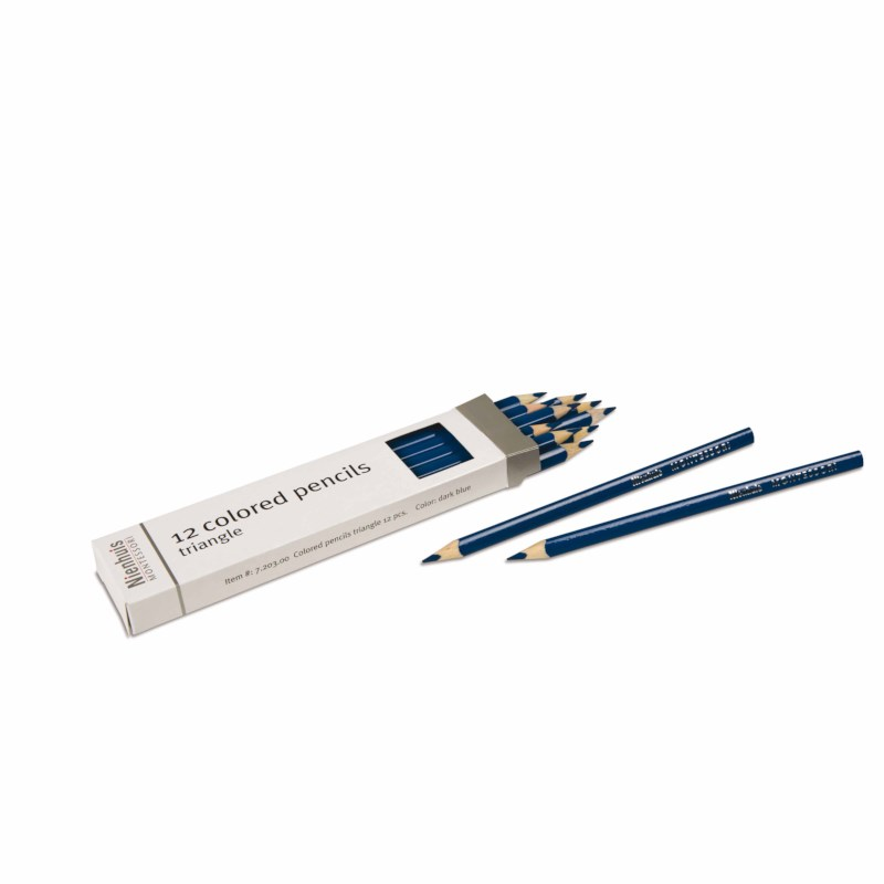 3-Sided Inset Pencil: Dark Blue