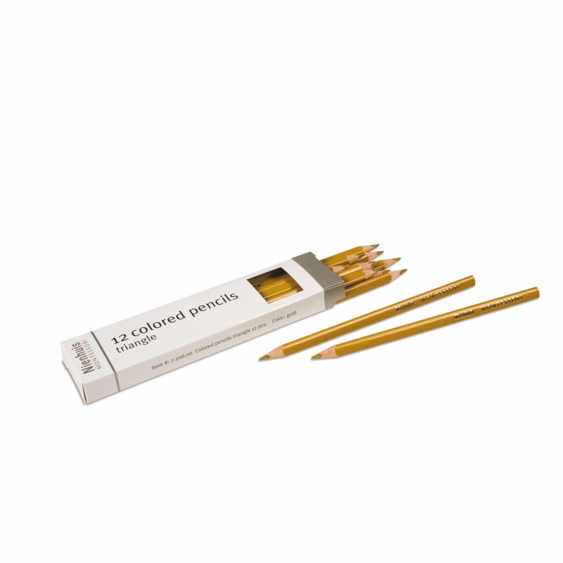 3-Sided Inset Pencil: Gold