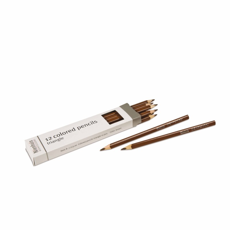 3-Sided Inset Pencil: Brown