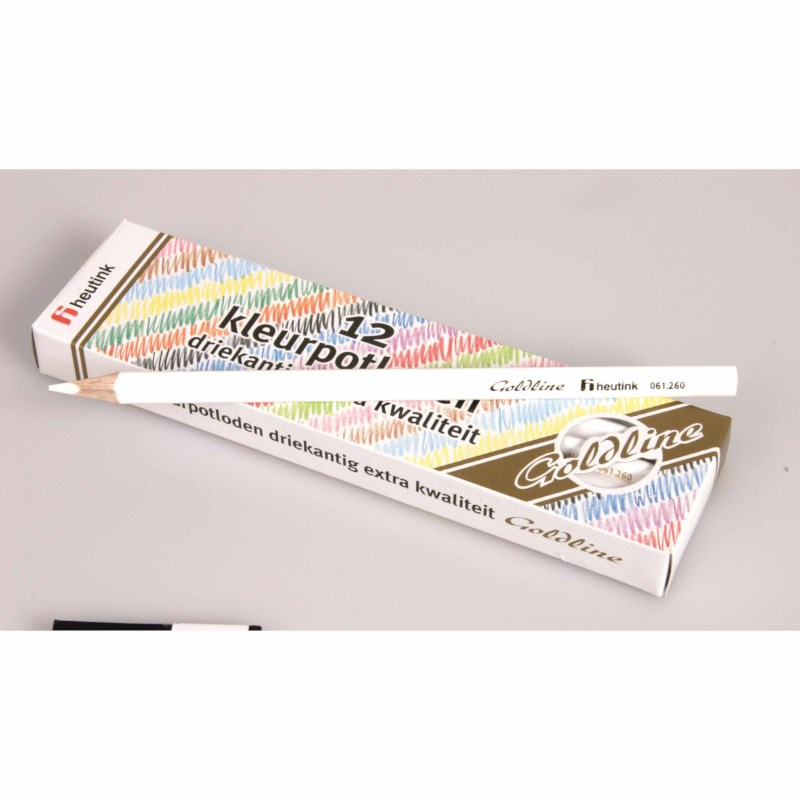 Crayons triangular Goldline - Heutink - Carton of 12 - White