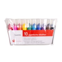 Felt tip pens - Giant - Heutink - Pouch of 10 colours