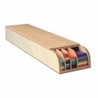 Weaving strips display - Wood