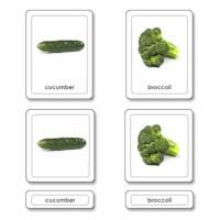 Vegetables 3 Part Cards