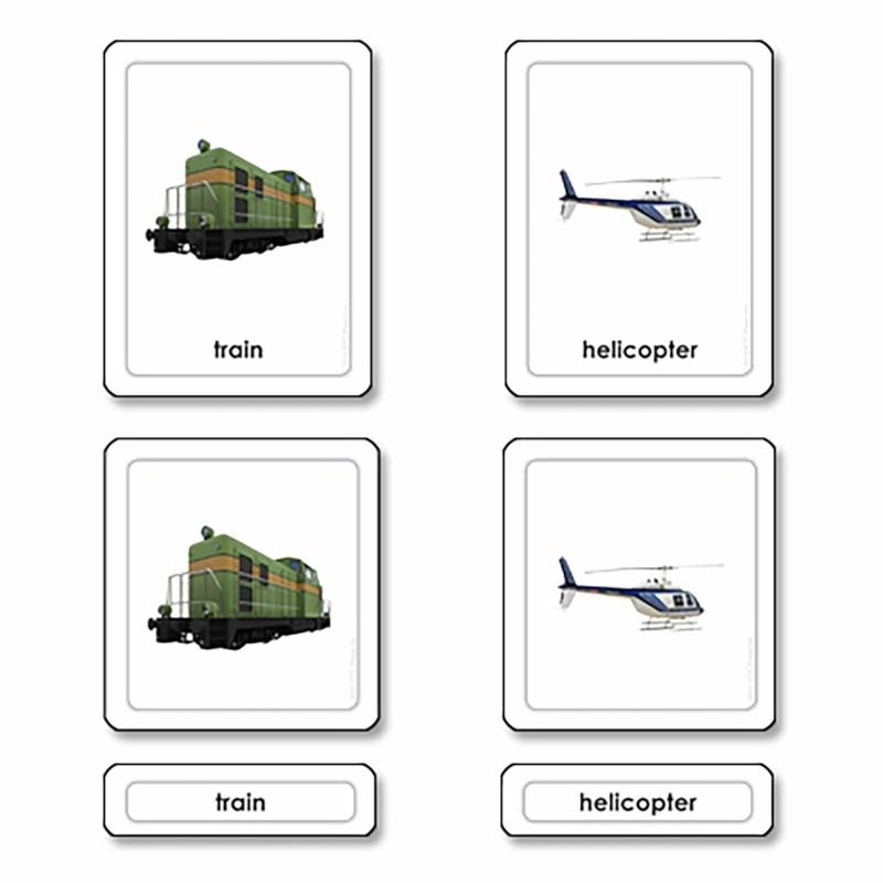 Transportation 3 Part Cards